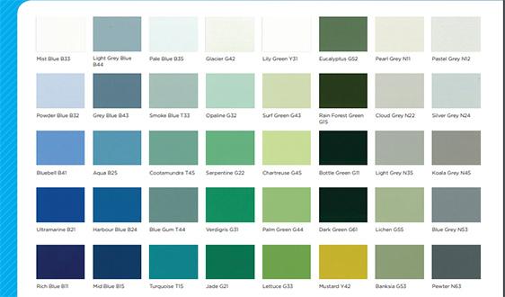 epoxy floor covering colour options