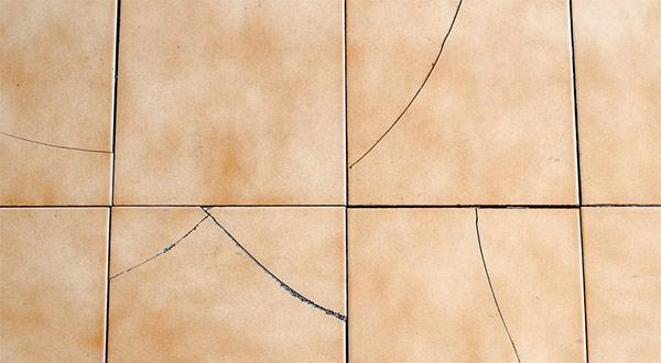 tiles floor covering broken