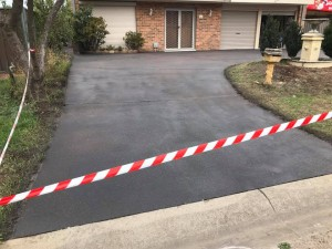 Old Driveway after concrete resurfaing