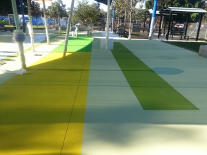 concrete resurfacing for play centre